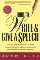 Download How to write and give a speech