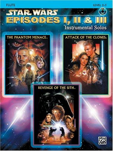 Star Wars Episodes I, II & III Instrumental Solos Book & CD (Flute Edition)