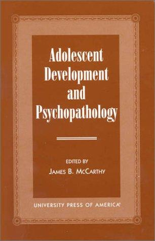 Download Adolescent Development and Psychopathology