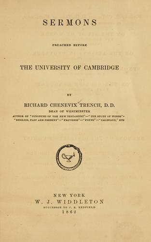 Download Sermons preached before the University of Cambridge.