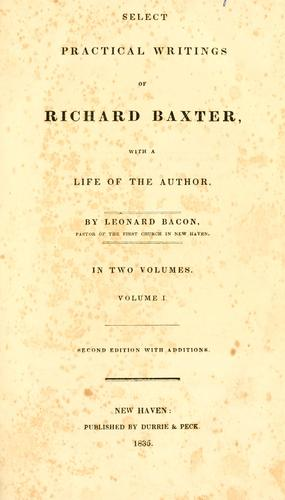 Download Select practical writings of Richard Baxter