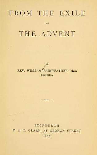 Download From the exile to the advent