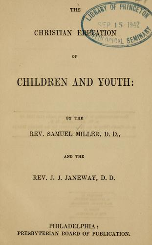 Download The Christian education of children and youth.