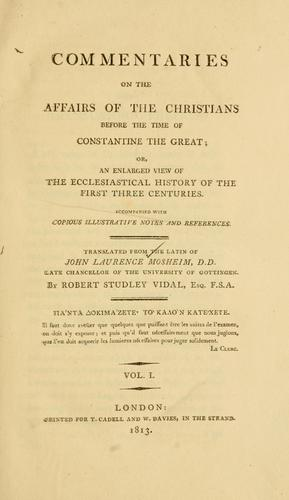 Download Commentaries on the affairs of the Christians before the time of Constantine the Great