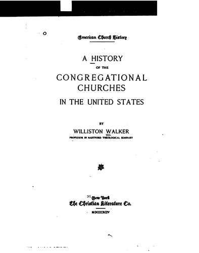 Download A history of the Congregational churches in the United States