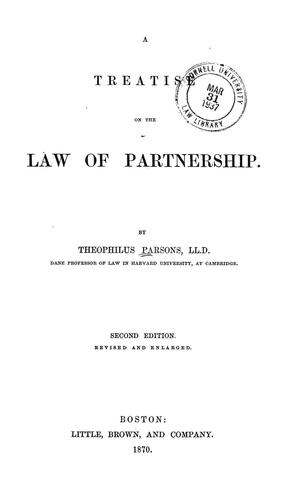 Download A treatise on the law of partnership.
