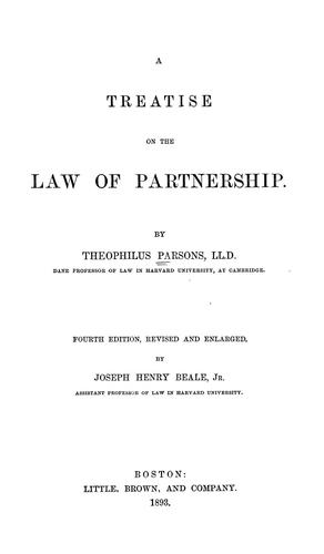 A treatise on the law of partnership.