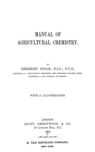 Manual of agricultural chemistry.