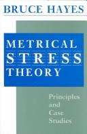 Metrical stress theory by Bruce Hayes