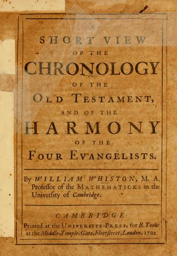 A short view of the chronology of the Old Testament by William Whiston